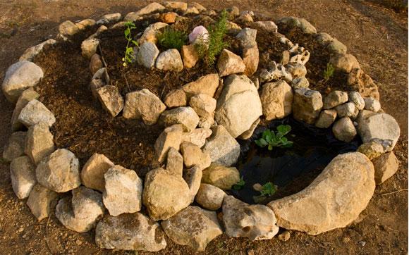 Espiral de plantas aromáticas
