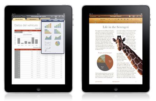 Numbers y Pages para iPad