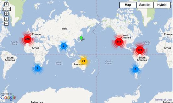 Mapa de pueblos en transición