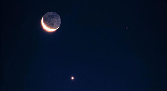 Luna Venus y Marte